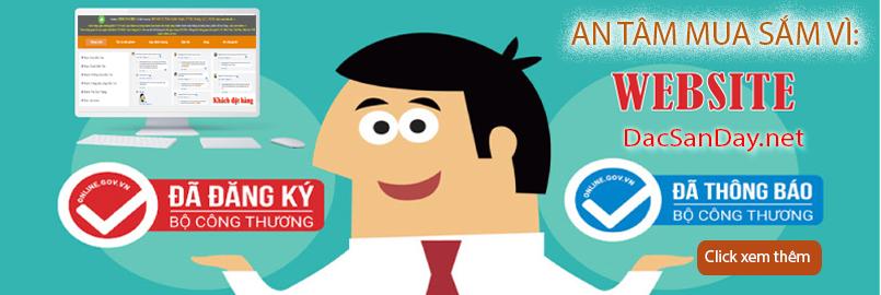 DacSanDay.net đã đăng ký với bộ công thương