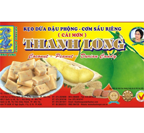 Kẹo dừa đậu phộng sầu riêng Thanh Long (500g)